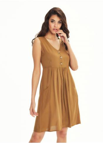 Boho Short Camel Dress