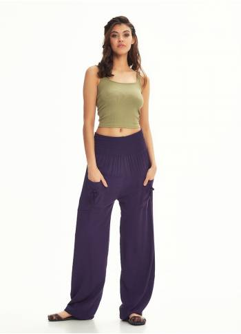 Bohemian Purple Harem Pants