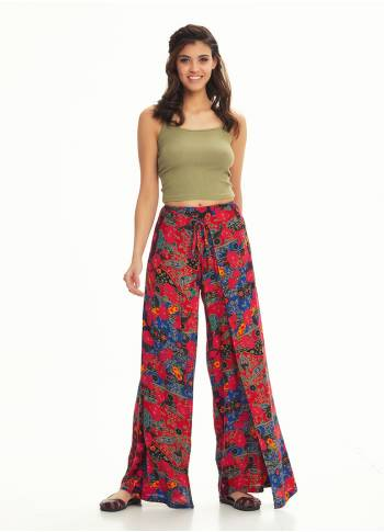 Palazzo Wrap Roma Patterned Pants