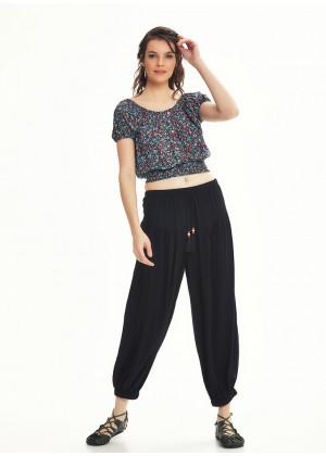 Drawstring Black Pants