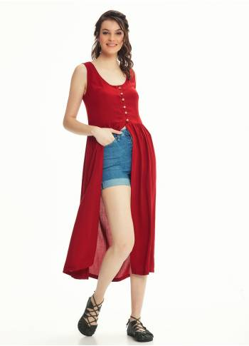 Boho Tunic Red Dress