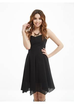 Sweetheart Neck Fit And Flare Day Dress